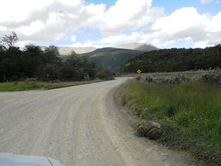 Une des routes du parc de la Terre de Feu à Ushuaia