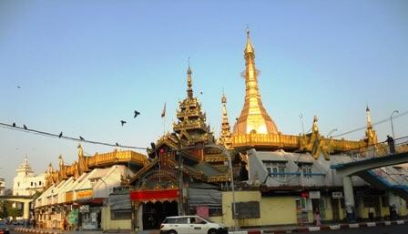 La Sule Pagoda à Yangon