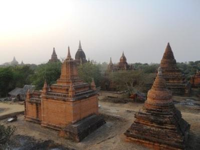 Vue du haut d'une pagode
