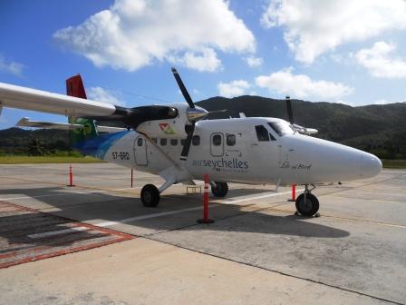 Avion Air Seychelles pour la liaison Mahé-Praslin