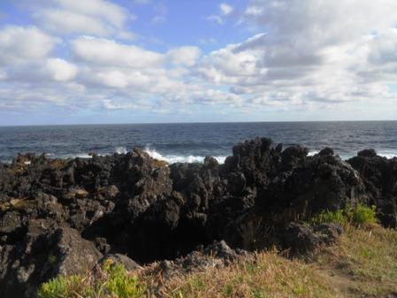 Roches volcaniques à Calhetas aux açores