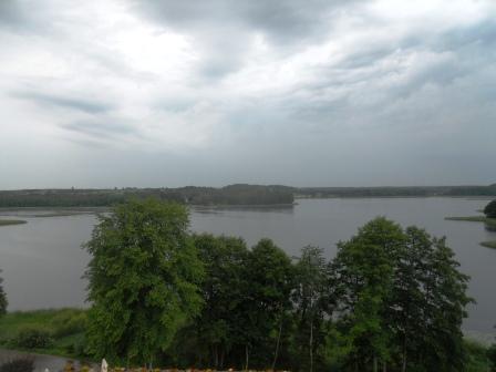 Lac du parc de Wigry Pologne
