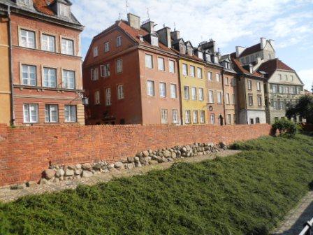 La vielle ville de Varsovie vue des remparts du château