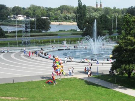 Un des espaces verts de Varsovie Pologne