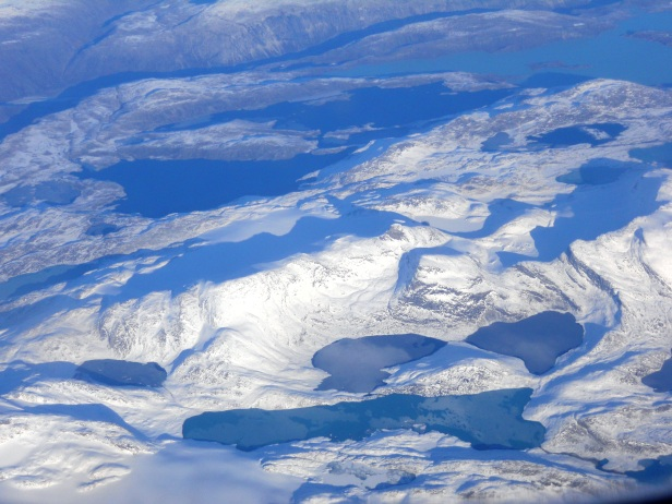 Le Groenland vu lors de notre vol Paris-Los Angeles