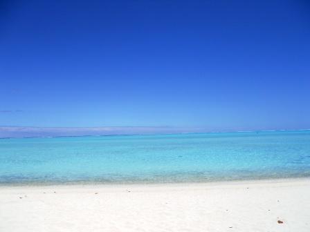 Lagon de la pointe de Matira à Bora Bora