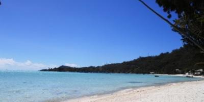 Plage de la pointe de Matira à Bora Bora