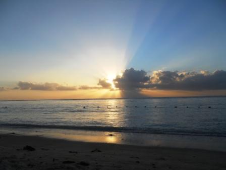 Coucher de soleil plage de Flic en Flac-Ile Maurice