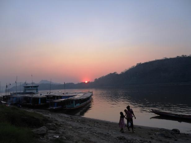 Laos-Coucher de soleil (2)