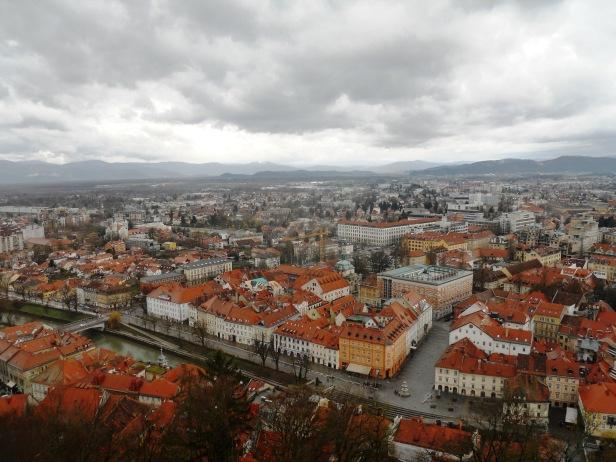 Vue sur Ljubljana-Slovénie depuis le château
